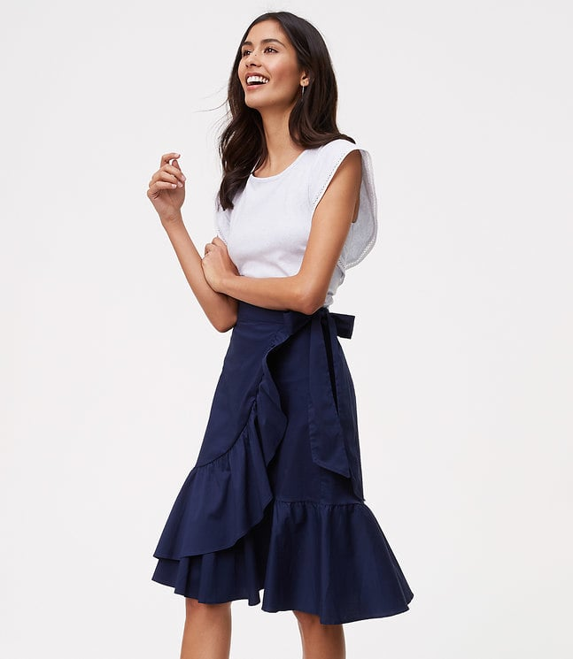 LOFT Ruffled Wrap Skirt