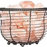 WBM Himalayan Ionic Crystal Natural Salt Basket Lamp