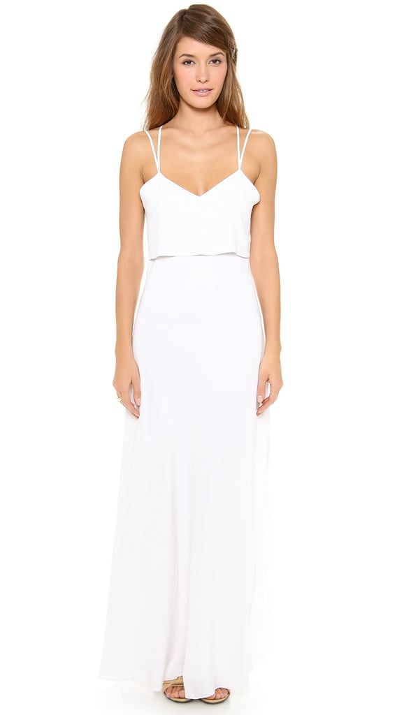 Band of Outsiders Silk Crepe Spaghetti-Strap Gown ($795)