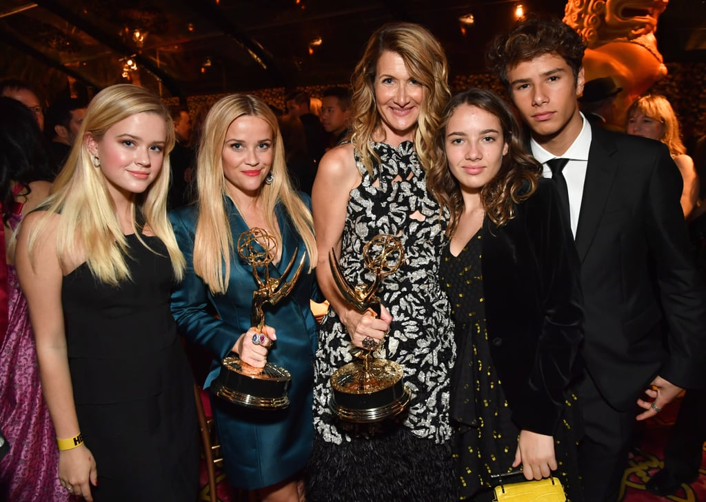 Laura Dern With Her Kids at Emmys Afterparty 2017