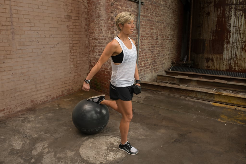 2a. One-Legged Deadlifts With Stability Ball