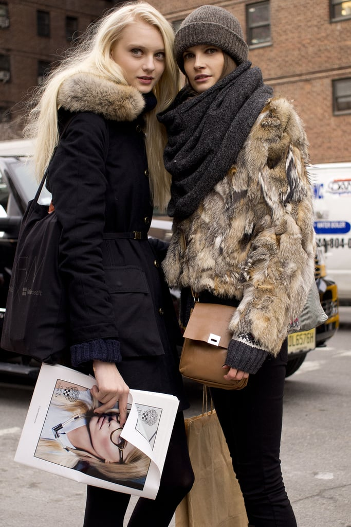 Doubled up on fur for a majorly luxe-meets-cool moment.