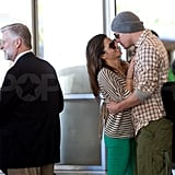 Channing went in for a kiss!
