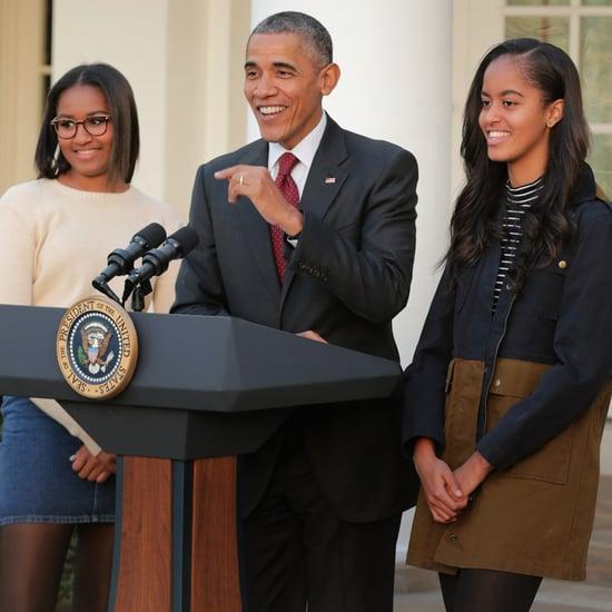 Barack Obama's Quotes About Sasha and Malia Dating