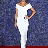 Wearing a sleek white gown by Solace London, Kate stunned at a gala in California.