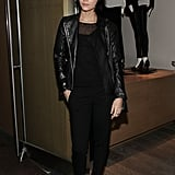 Leigh Lezark opted for head-to-toe black while stopping by the Vince boutique in SoHo.