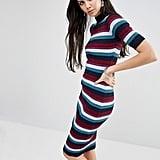 Glamorous Tall Striped Rib Knitted Midi Dress ($58)