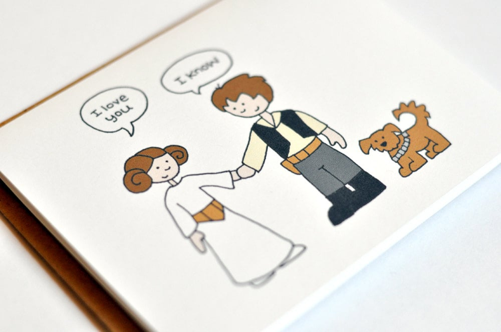 Han and Leia I Love You Card