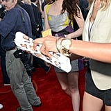 Kristen Stewart arrived at the 2012 MTV Movie Awards.