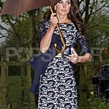 The Duchess of Cambridge, Kate Middleton, at Hannah Gillingham and Robert Carter's wedding.