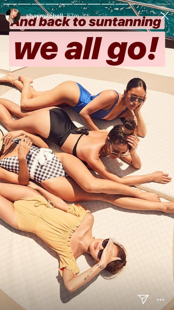 Shay Mitchell Black Bikini June 2018