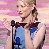 Cate Blanchett led a round of applause.