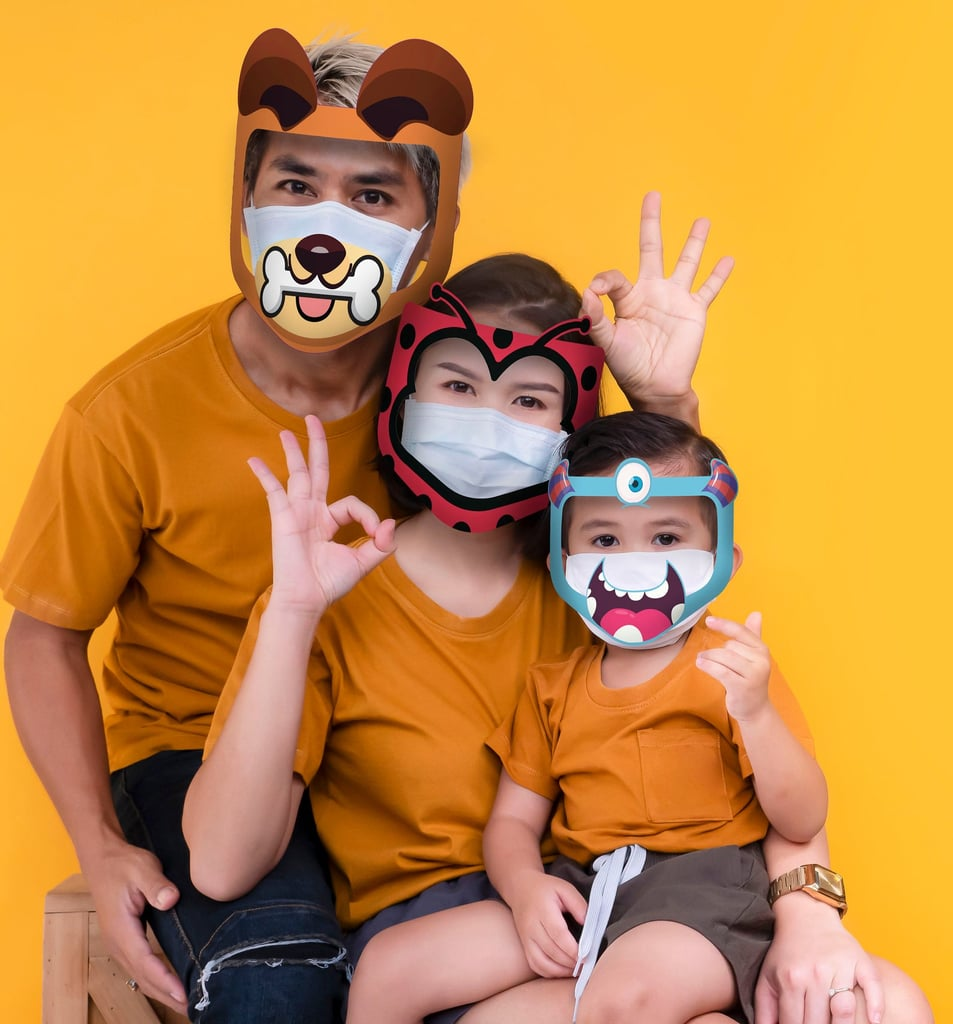 Clear Face Shield with Printed Designs for Kids and Adults