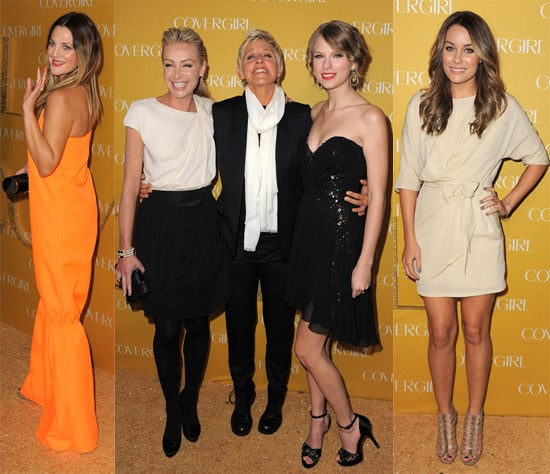 Pictures of Taylor Swift, Lauren Conrad, Drew Barrymore, and Ellen DeGeneres at a Cover Girl Party 2011-01-06 06:28:26