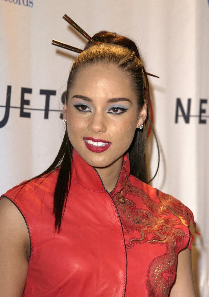 Alicia Keys at the Clive Davis Pre-Grammys Party in 2003
