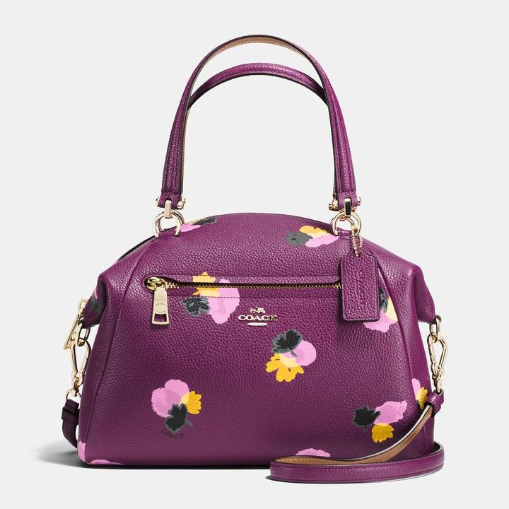 Coach Prairie Satchel In Floral Print Leather ($325)