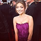 Sarah Hyland opted for purple. Source: Instagram user sagawards