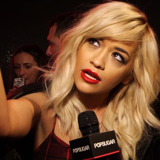 Rita Ora Fashion Week Interview Fall 2014