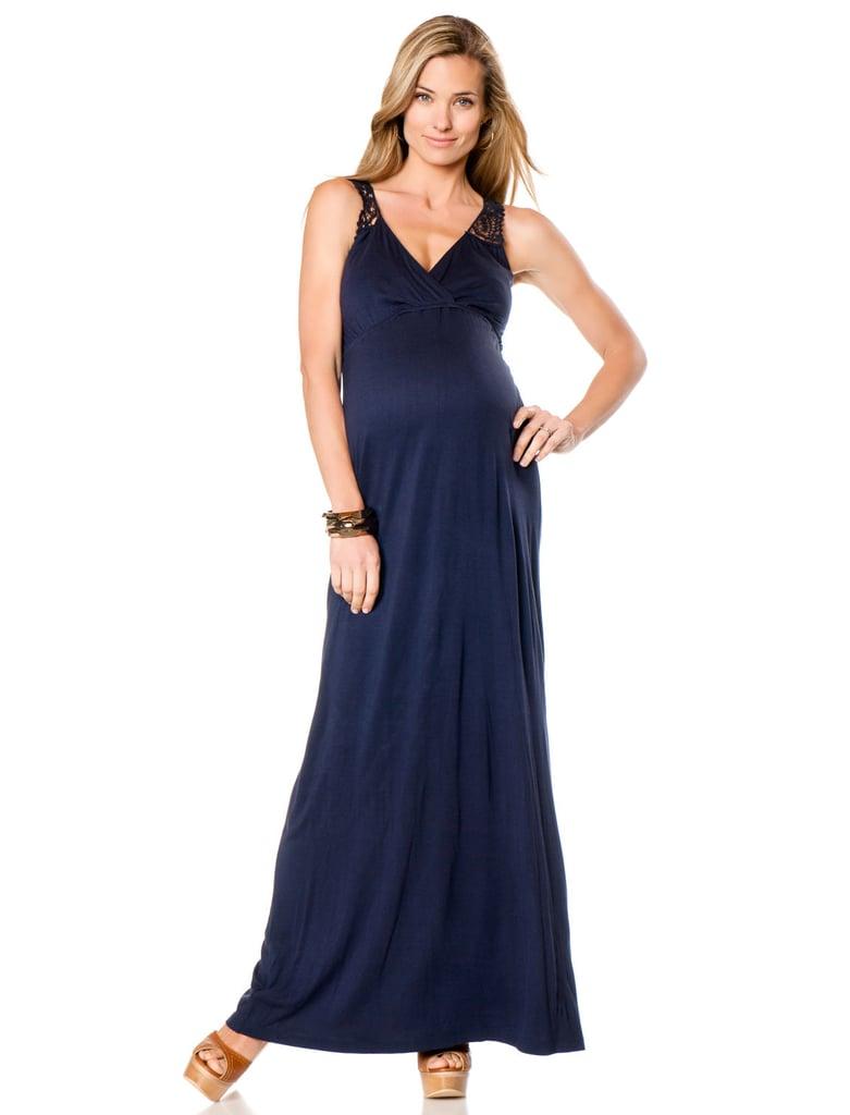 Séraphine Sleeveless Lace Back Maternity Dress ($95)