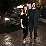 Jessica Biel in an LBD by Manning Cartell and Justin Timberlake were equal parts elegant and cool arriving at W mag's party.