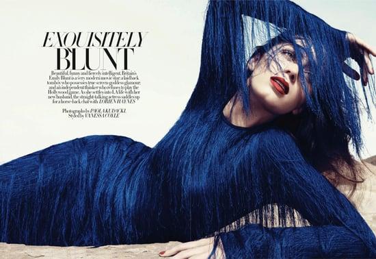 Emily Blunt does Harper's Bazaar UK-january 2011