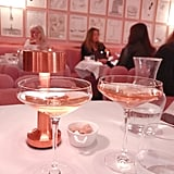 Rosé Champagne is a must, obviously. Pink on pink.