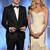 Ashton Kutcher and Elle Macpherson at the Golden Globes.