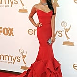Nina Dobrev at the 2011 Emmy Awards
