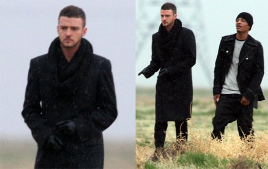 Photos of Justin Timberlake and T.I. Filming Music Video Together in Lancaster, California