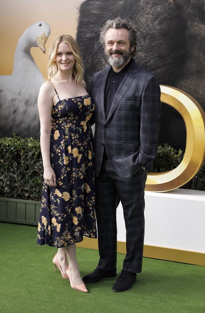 Anna Lundberg and Michael Sheen at the Dolittle Premiere in LA