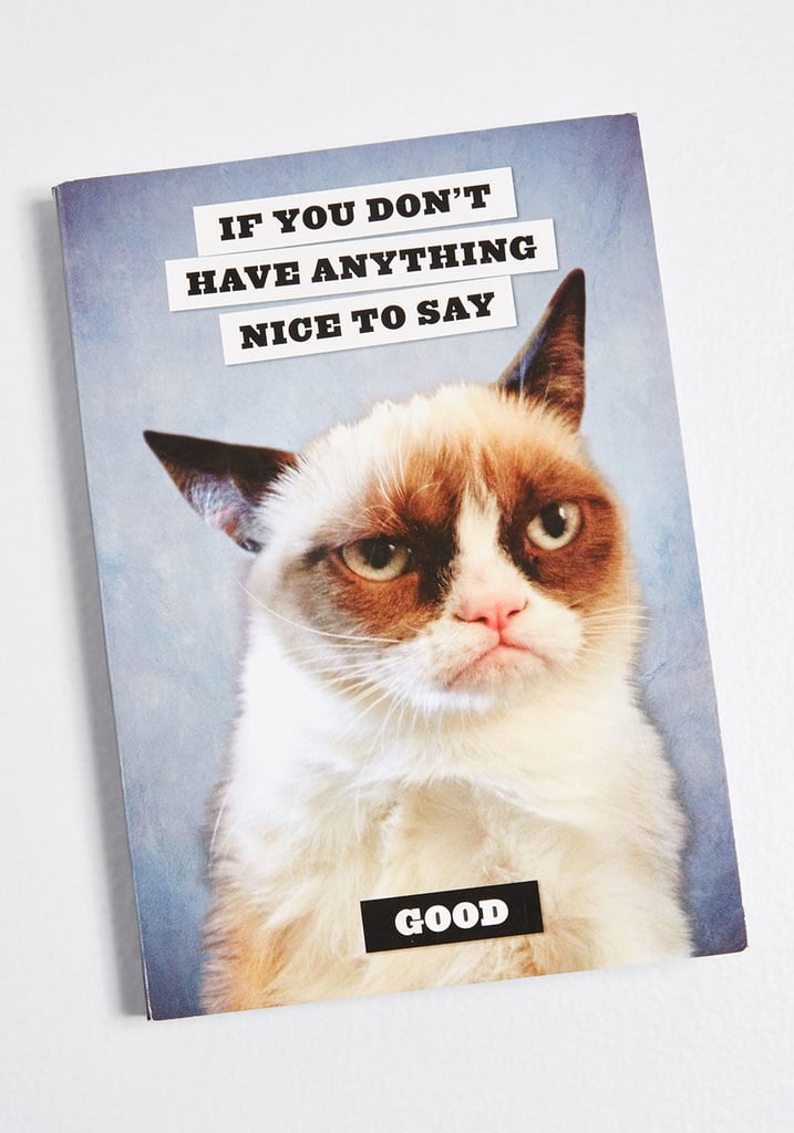 Nothing Nice to Say Grumpy Cat Notebook