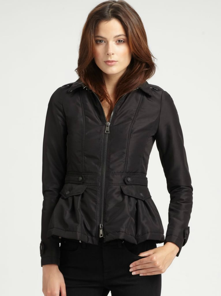 A girlie puffer? It can be done, as Burberry proves with this Burberry London Peplum Puffer Jacket ($895).