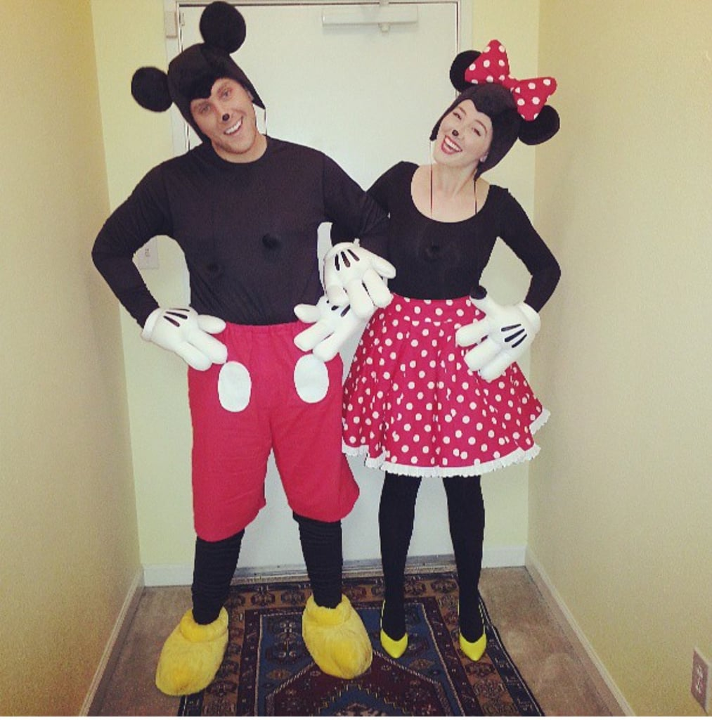 Mickey and Minnie Mouse  sc 1 st  Popsugar & Mickey and Minnie Mouse | Homemade Halloween Couples Costumes ...