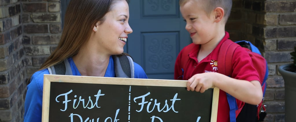 "Mom ""Photobombs"" Her Son's First-Day-of-School Photo For the Best Reason"