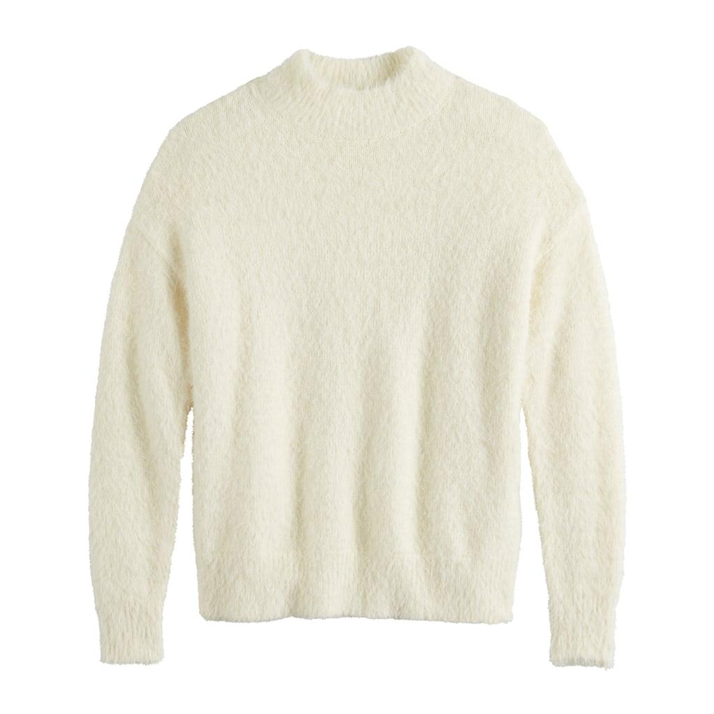 Fuzzy Mockneck Sweater