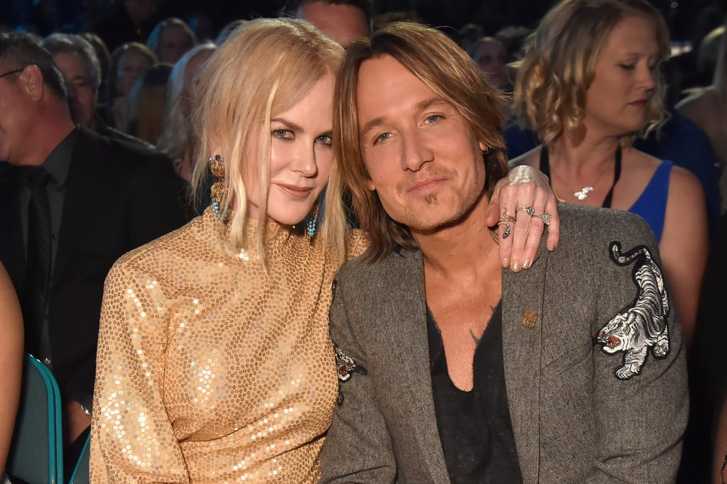Whenever we start to doubt that true love really exists, all we have to do is take a quick glance at Nicole Kidman and Keith Urban to be reminded that, yep, it's the real deal, y'all. The adorable pair — who has been married for almost 12 years — hit the blue carpet at the ACM Awards in Las Vegas on Sunday night, and they couldn't tear their eyes off of each other. Sure, the night featured some amazing performances and a touching tribute, but all we could focus on was how sweet Nicole and Keith were being throughout the show. Take a look through their cutest moments below, then get the details on Nicole's gilded dress!      Related:                                                                                                           The ACM Awards Didn't Open With a Performance For an Incredibly Touching Reason