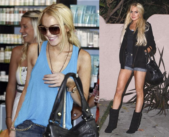 Photos of Lindsay Lohan Over The Weekend