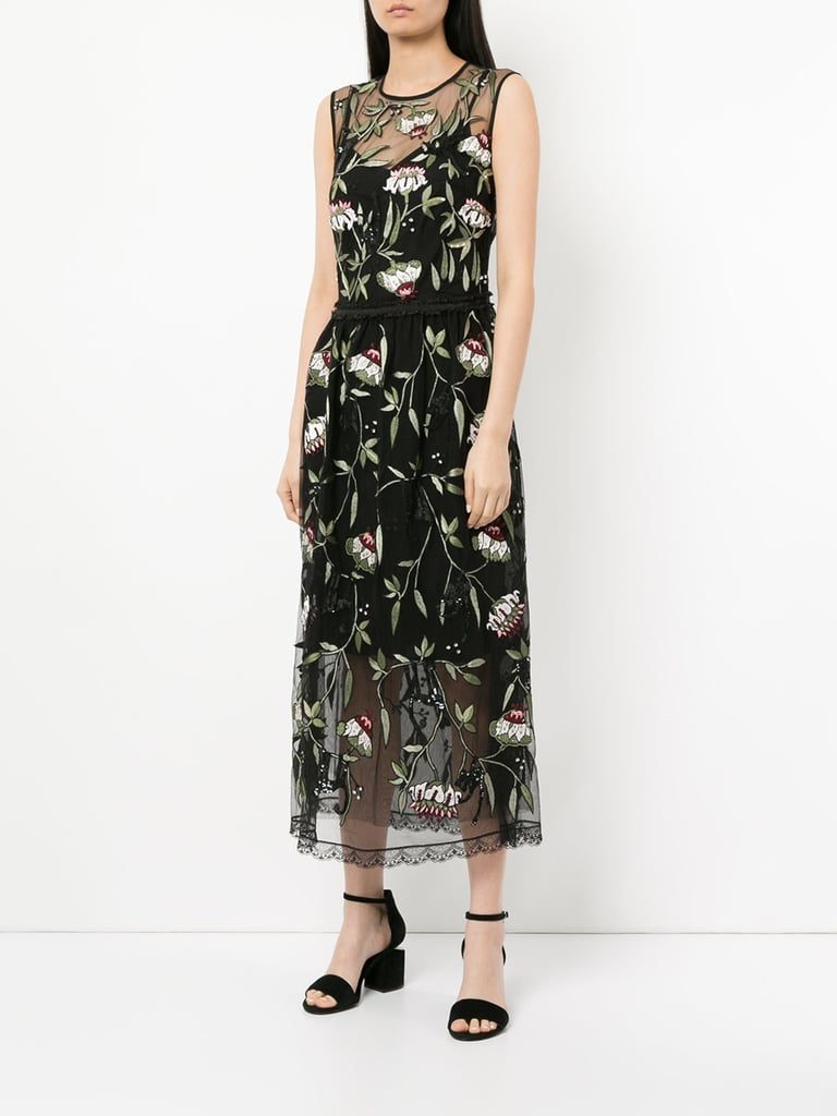 Markus Lupfer Sheer Floral Print Dress ($1,674)