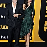 George and Amal Clooney at Catch-22 Premiere