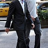 Scott Disick and Kris Humphries in NYC.