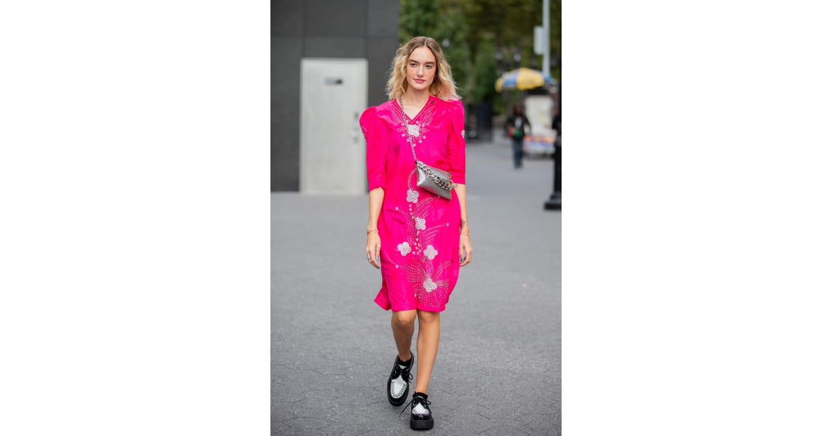 Go Bright With A Hot Pink Midi Dress And Tone It Down A