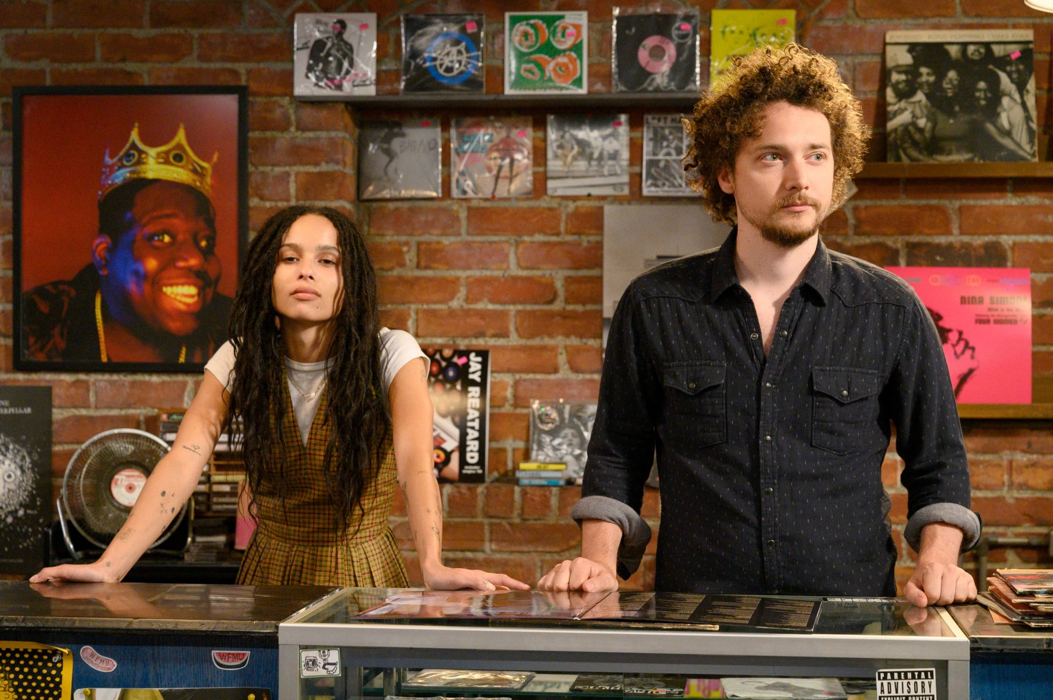 "HIGH FIDELITY, from left: Zoe Kravitz, David H. Holmes, ""Strange ... but warm"" (Season 1, Episode 106, broadcast on February 14, 2020). Photo: Phillip Caruso / Hulu / Courtesy of the Everett Collection"