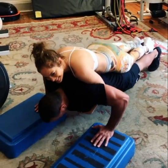 Jennifer Lopez Alex Rodriguez Working Out With David Kirsch