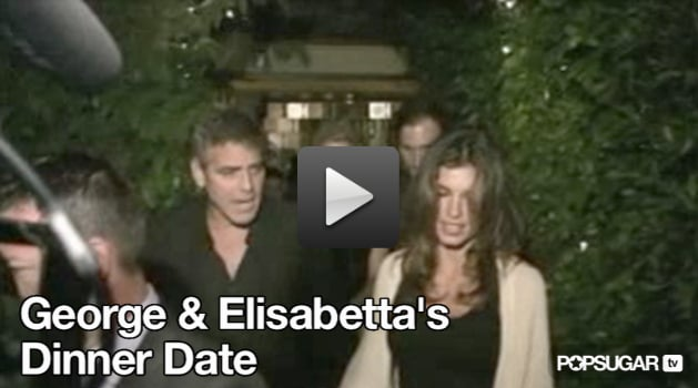 George Clooney and Elisabetta Canalis go on an Italian dinner date in LA