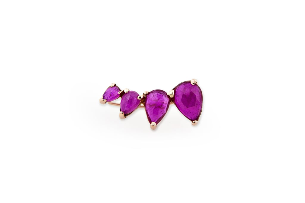 Jacquie Aiche Graduated Ruby Teardrop Ear Cuff ($1,650)