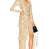 Alessandra Rich Sequin Long Sleeve Gown