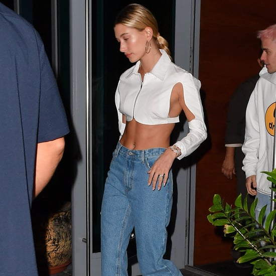 Hailey Baldwin Wears a Sexy White Crop Top in Miami