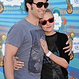 Stephen Moyer and Anna Paquin hugged at an LA Make-A-Wish Foundation event in March 2010.