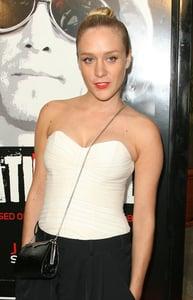 Chloe Sevigny in a Cross Body Evening Bag