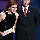 Debra Messing and Eric McCormack; 2001 Emmys